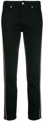 Alexander McQueen striped cropped skinny jeans