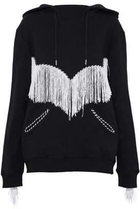 House of Holland Fringed Cotton Sweatshirt
