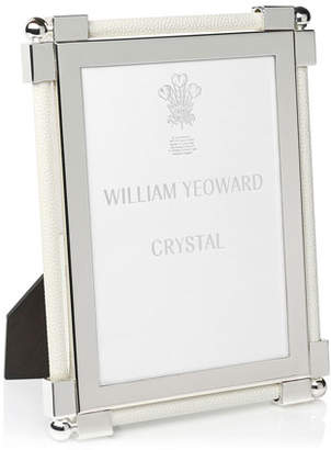 """William Yeoward Classic Shagreen White 5"""" x 7"""" Picture Frame"""