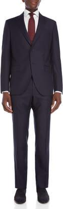 Luigi Bianchi Mantova Navy Pinstripe Wool Suit