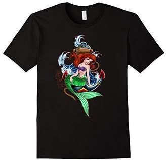 Disney Little Mermaid Anchor Sailor Tattoo Graphic T-Shirt