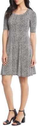 Karen Kane Animal Print A-Line Dress