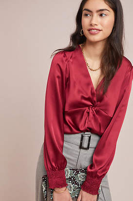 Hutch Knotted Satin Blouse