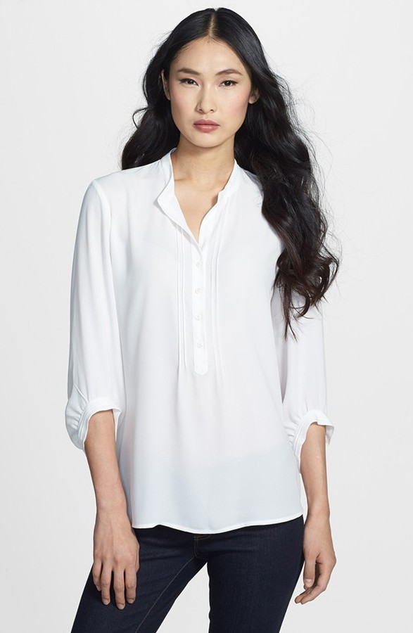 Chaus Pleated Sleeve Blouse