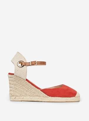Dorothy Perkins Womens Rust 'Raya' Espadrille Wedge Sandals