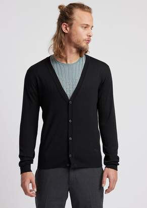 Emporio Armani Cardigan In Virgin Wool
