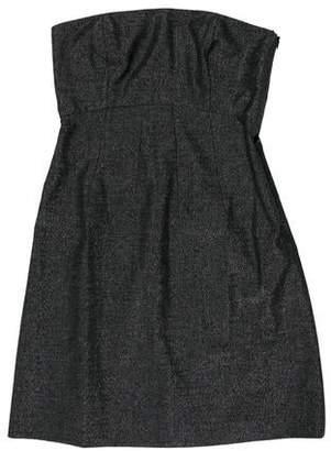 Theory Wool Strapless Mini Dress