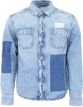 Calvin Klein Jeans Patchwork Denim Shirt