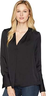 Kenneth Cole Women's V-Neck Long Sleeve Blouse