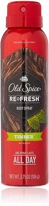 Old Spice Re Fresh Body Spray - Fresher Collection - Timber - Net Wt. 3.75 OZ (106 g) Each - by