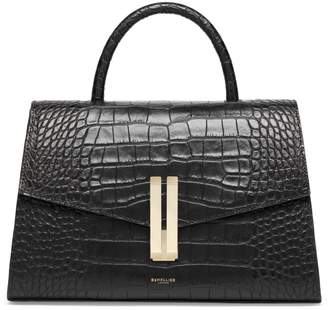 DeMellier Montreal Croc-Effect Leather Structured Bag