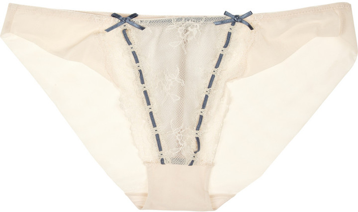 Elle Macpherson Intimates Artistry lace and stretch-mesh briefs