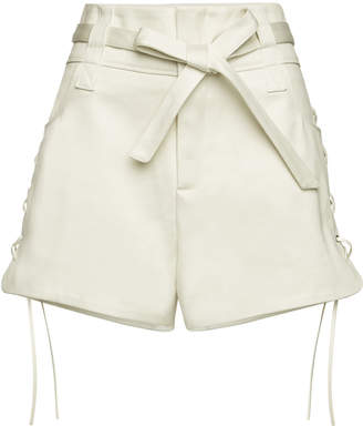 IRO Cotton Shorts Lace-Up Sides