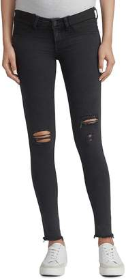Rag & Bone Distressed Skinny Maternity Jeans in Night With Holes