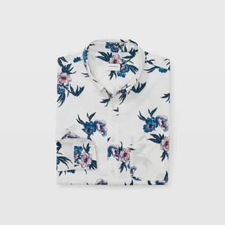 Club Monaco Slim Beach Flower Shirt