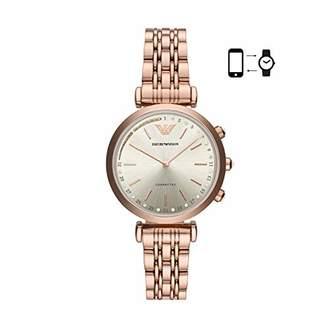 Emporio Armani Women's 'Hybrid Smartwatch' Quartz Stainless-Steel-Plated Smart Watch