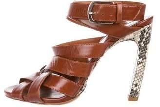 Dries Van Noten Snakeskin Leather sandals