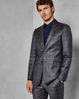 Ted Baker CHUCKJ Slim fit checked wool jacket
