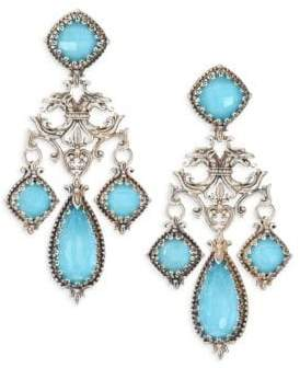Konstantino Turquoise Doublet Chandelier Earrings
