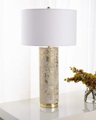 John-Richard Collection HAIR ON HIDE TABLE LAMP WITH
