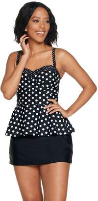 Isaac Mizrahi Live! Choice of Gingham or Polka Dot Tankini w/Skirt