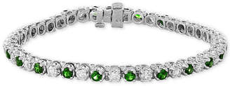Effy Certified Ruby (3 ct. t.w.) & Diamond (2-1/6 ct. t.w.) Bracelet in 14k White Gold(Also Available in Emerald)