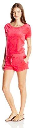 Juicy Couture Black Label Women's Logo Velour Marrakech Cameo Romper $157.22 thestylecure.com