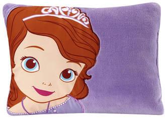 Disney Sofia the First Appliqued Super Soft Plush Decorative Toddler Pillow Bedding