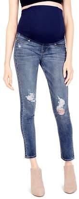 Ingrid & Isabel Sasha Maternity Skinny Jeans in Distressed