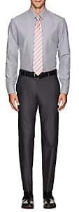 Armani Collezioni MEN'S STRIPED COTTON OXFORD CLOTH DRESS SHIRT-BLUE SIZE 17.5