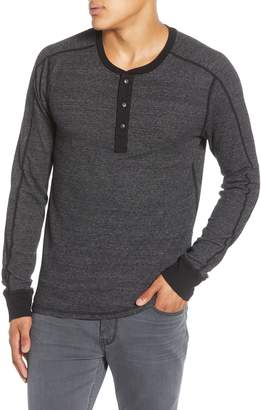 Splendid Mills Supply by Slim Fit Long Sleeve Thermal Knit Henley