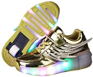 Heelys PRETTYHOMEL Kids Wheely Shoes Girls Boys Kids Shoes LED Light up Roller Skate Sneakers Kids Gift