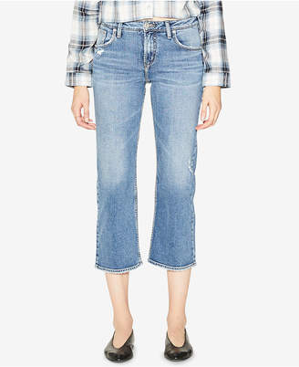 Silver Jeans Co. High Rise Wide Leg Crop Jeans