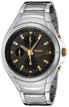 Seiko Men's SND783P Chronograph Black Dial Stainless Steel Watch