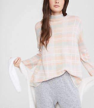 Lou & Grey Plaid Mock Neck Sweater