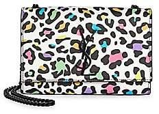 Saint Laurent Women's Small Kate Multicolor Leopard-Print Leather Bag