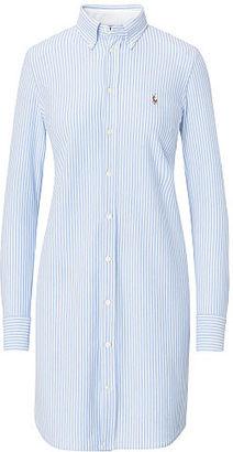 Polo Ralph Lauren Striped Knit Oxford Shirtdress $145 thestylecure.com
