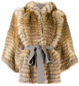 Liska hooded cropped jacket