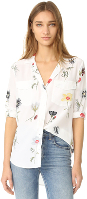 Equipment Ansley Button Down Blouse $278 thestylecure.com