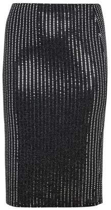Evans Black Sparkle Pull On Skirt