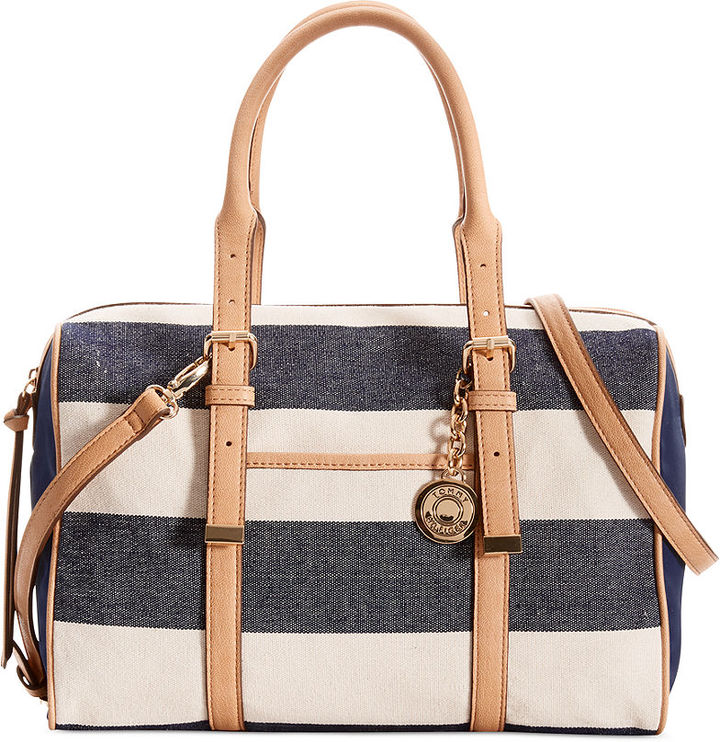 Tommy Hilfiger Rugby Stripe Convertible Satchel