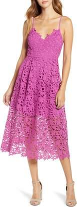 ASTR the Label Lace Midi Dress