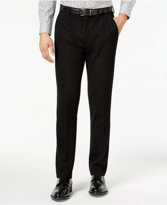 Bar III Men's Slim-Fit Black Stripe Knit Suit Pants, Created for Macy's
