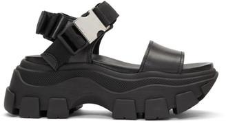 Prada Black Teva Platform Sandals