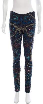 Zadig & Voltaire Sequin Mid-Rise Pants