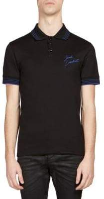 Saint Laurent Regular-Fit Brand Logo-Print Polo