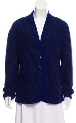 Armani Collezioni Wool V-Neck Cardigan