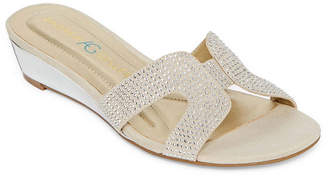 Andrew Geller Womens Icelyn Slide Sandals