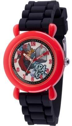 Marvel Marvel's Super Hero Adventure Thor Toddler Boys' Red Plastic Time Teacher Watch
