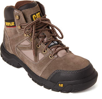 CAT Footwear Worn Brown Plan Steel Toe Work Boots